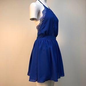 Mustard Seed royal blue halter dress